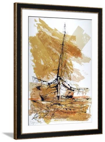 Barco de Madrugada-Gino Hollander-Framed Art Print