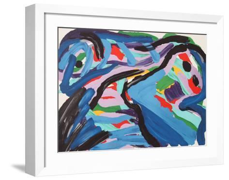 Floating in a Landscape-Karel Appel-Framed Art Print