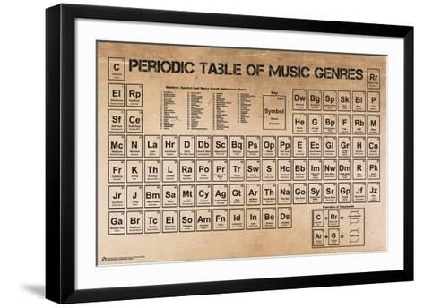 Periodic Table of Music--Framed Art Print