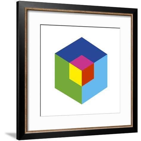 Cube and Ego-Gary Andrew Clarke-Framed Art Print