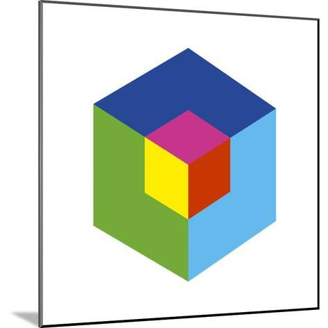 Cube and Ego-Gary Andrew Clarke-Mounted Giclee Print