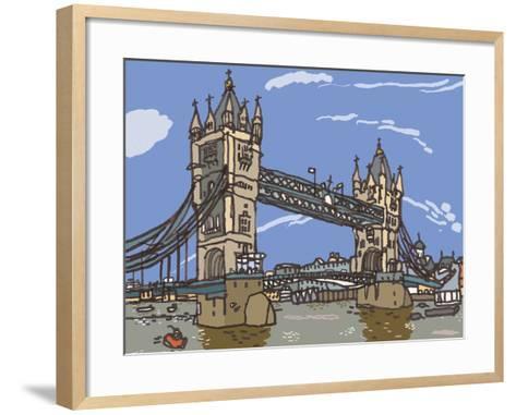 Tower Bridge-James Hobbs-Framed Art Print