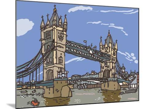 Tower Bridge-James Hobbs-Mounted Giclee Print