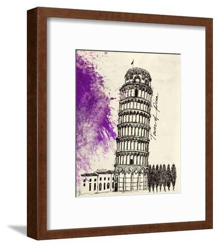Tower of Pisa in Pen-Morgan Yamada-Framed Art Print