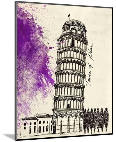 Tower of Pisa in Pen-Morgan Yamada-Mounted Art Print
