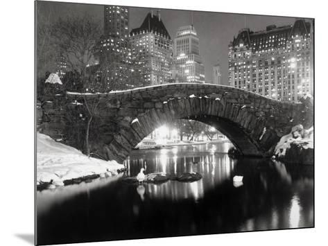 New York Pond in Winter--Mounted Art Print