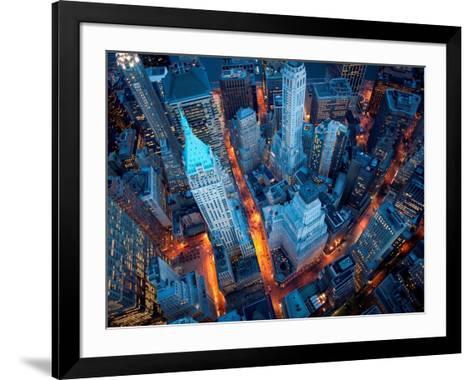 Aerial View of Wall Street-Cameron Davidson-Framed Art Print