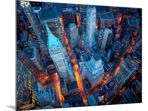 Aerial View of Wall Street-Cameron Davidson-Mounted Art Print