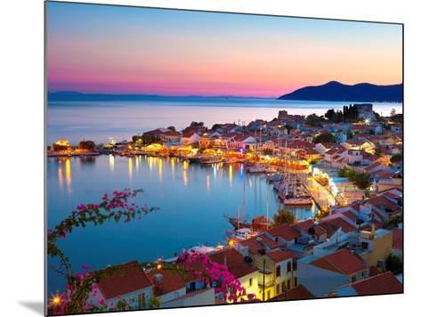 Greek Harbour at Dusk, Samos, Aegean Islands-Stuart Black-Mounted Art Print
