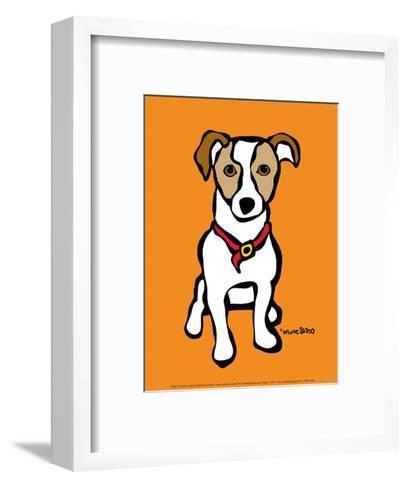 Jack Russell on Orange-Marc Tetro-Framed Art Print
