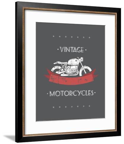 Vintage Motorcycles--Framed Art Print