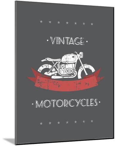 Vintage Motorcycles--Mounted Art Print