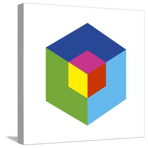 Cube and Ego-Gary Andrew Clarke-Stretched Canvas Print