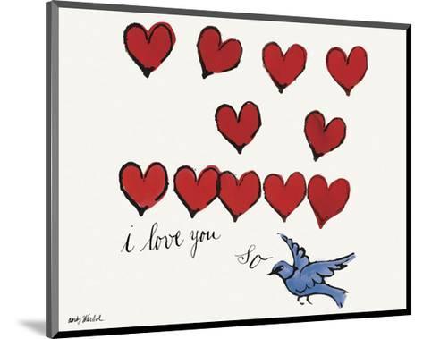 I Love You So, c. 1958-Andy Warhol-Mounted Art Print