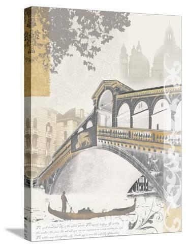 Rialto Bridge-Ben James-Stretched Canvas Print