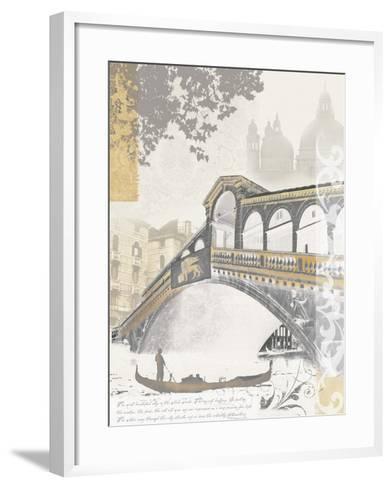 Rialto Bridge-Ben James-Framed Art Print