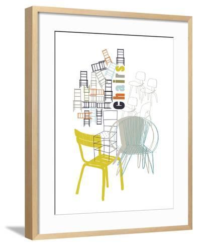 A Collection of Chairs-Laure Girardin-Vissian-Framed Art Print