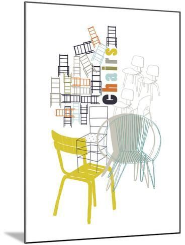 A Collection of Chairs-Laure Girardin-Vissian-Mounted Giclee Print