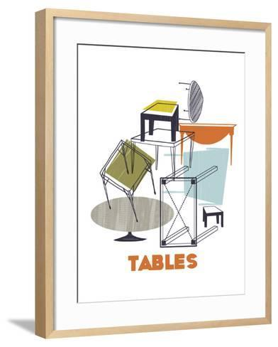 A Collection of Tables-Laure Girardin-Vissian-Framed Art Print