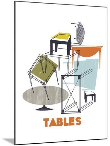A Collection of Tables-Laure Girardin-Vissian-Mounted Giclee Print