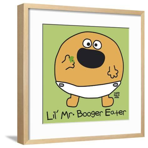 Lil Mr Booger Eater-Todd Goldman-Framed Art Print