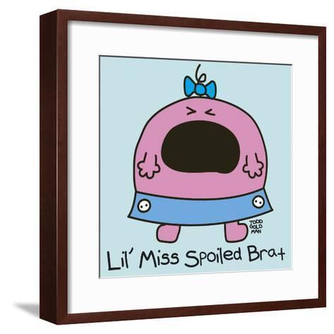 Lil Miss Spoiled Brat-Todd Goldman-Framed Art Print