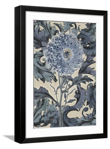 Indigo Deco Flower I-Emma Hill-Framed Art Print