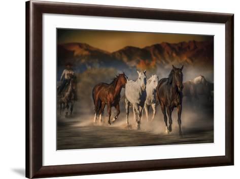Mustangs on the Move-Bobbie Goodrich-Framed Art Print