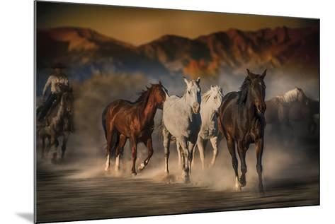 Mustangs on the Move-Bobbie Goodrich-Mounted Giclee Print