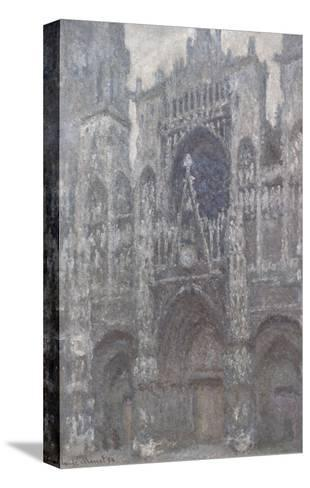 The Cathedral in Rouen, The Portal, Grey Weather, 1892-Claude Monet-Stretched Canvas Print