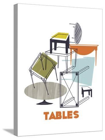 A Collection of Tables-Laure Girardin-Vissian-Stretched Canvas Print