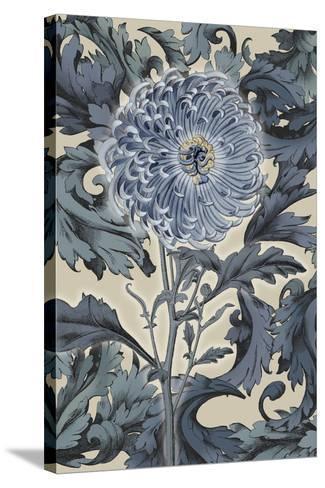 Indigo Deco Flower I-Emma Hill-Stretched Canvas Print