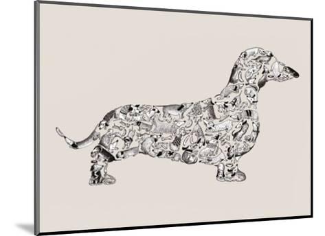 Dachshund-Louise Tate-Mounted Art Print