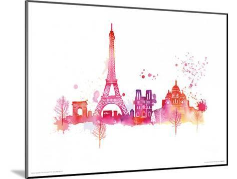 Paris Skyline-Summer Thornton-Mounted Art Print