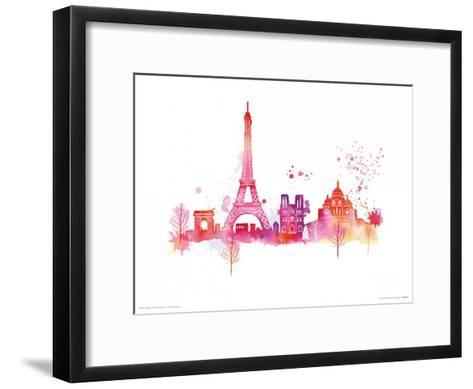 Paris Skyline-Summer Thornton-Framed Art Print