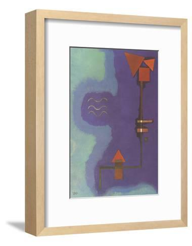 Tirant Sur Le Violet-Wassily Kandinsky-Framed Art Print