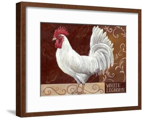 Rustic Roosters IV-Theresa Kasun-Framed Art Print