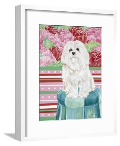 Della Rose Maltese-Carolee Vitaletti-Framed Art Print