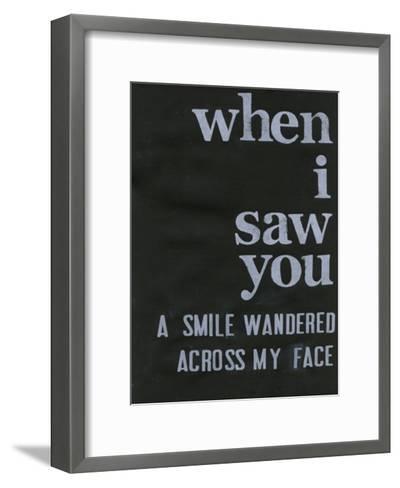 When I Saw You... II-Deborah Velasquez-Framed Art Print