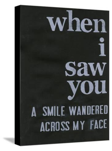 When I Saw You... II-Deborah Velasquez-Stretched Canvas Print