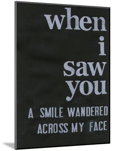 When I Saw You... II-Deborah Velasquez-Mounted Art Print