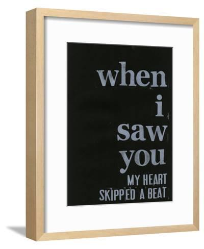 When I Saw You... III-Deborah Velasquez-Framed Art Print