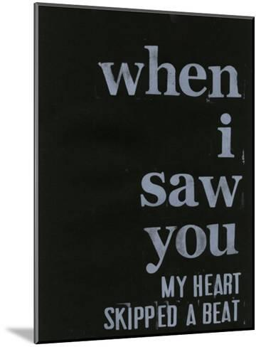When I Saw You... III-Deborah Velasquez-Mounted Art Print