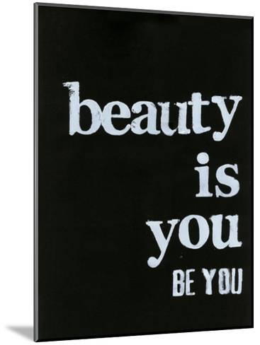 Be Beautiful IV-Deborah Velasquez-Mounted Art Print