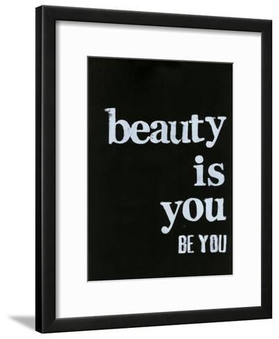 Be Beautiful IV-Deborah Velasquez-Framed Art Print
