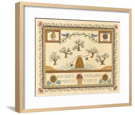 Garden Sampler II-Wendy Russell-Framed Art Print