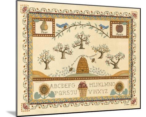 Garden Sampler II-Wendy Russell-Mounted Giclee Print
