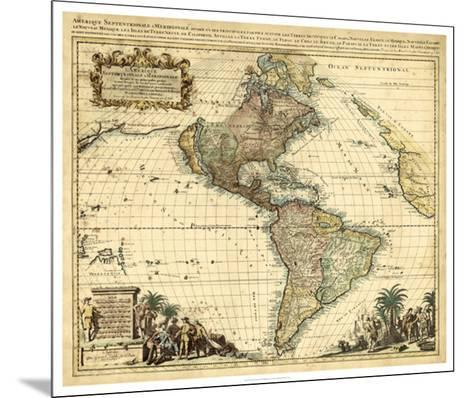 Antique Map of America II--Mounted Giclee Print