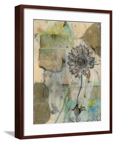 Vellum Floral I-Jennifer Goldberger-Framed Art Print