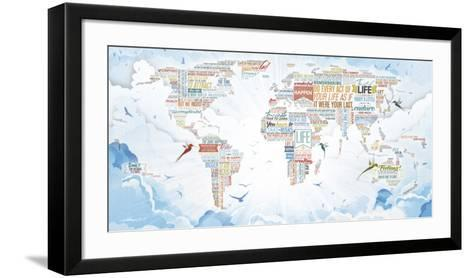 World of Life- Mikael B. Design-Framed Art Print